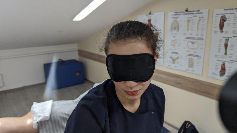 Классический массаж с закрытыми глазами